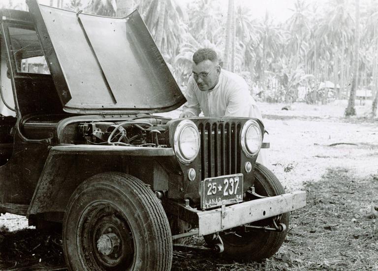 Fr. Oliver repairing