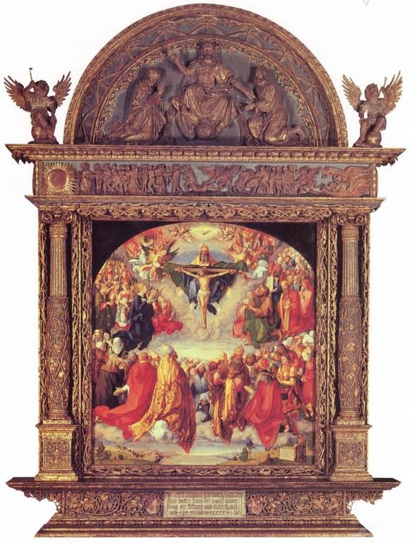 7Albrecht Dürer, The Adoration of the Holy Trinity (Landauer Altar), Wikipedia.jpg